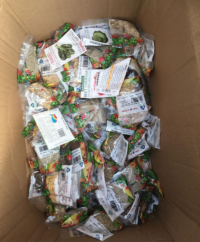 SEED GIVEAWAY**** We up to our knees in seeds!!! Join us for our volunteer day April 20th from 2-5pm and take home some free seeds. It is abundant over here. Find volunteer sign-up on our website. 🥬🥒🌽🌶🥕🍅🍆🥦