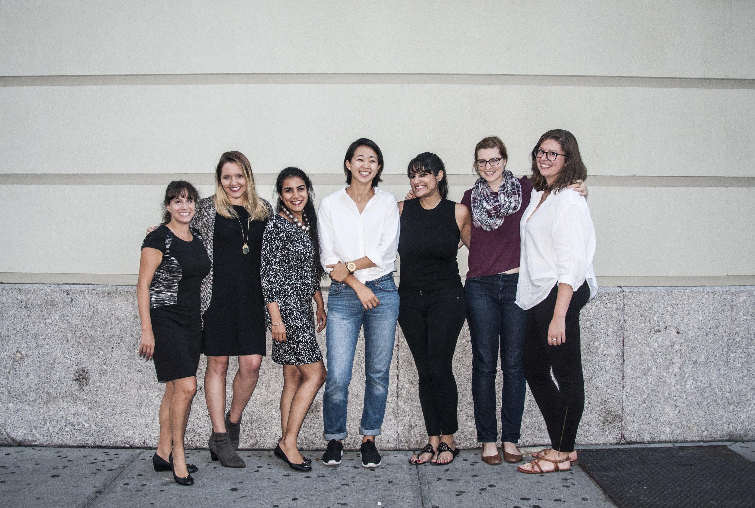 (left to right) Maya, Nicole, Kiran, Amy, Shivani, Beth, Alicia