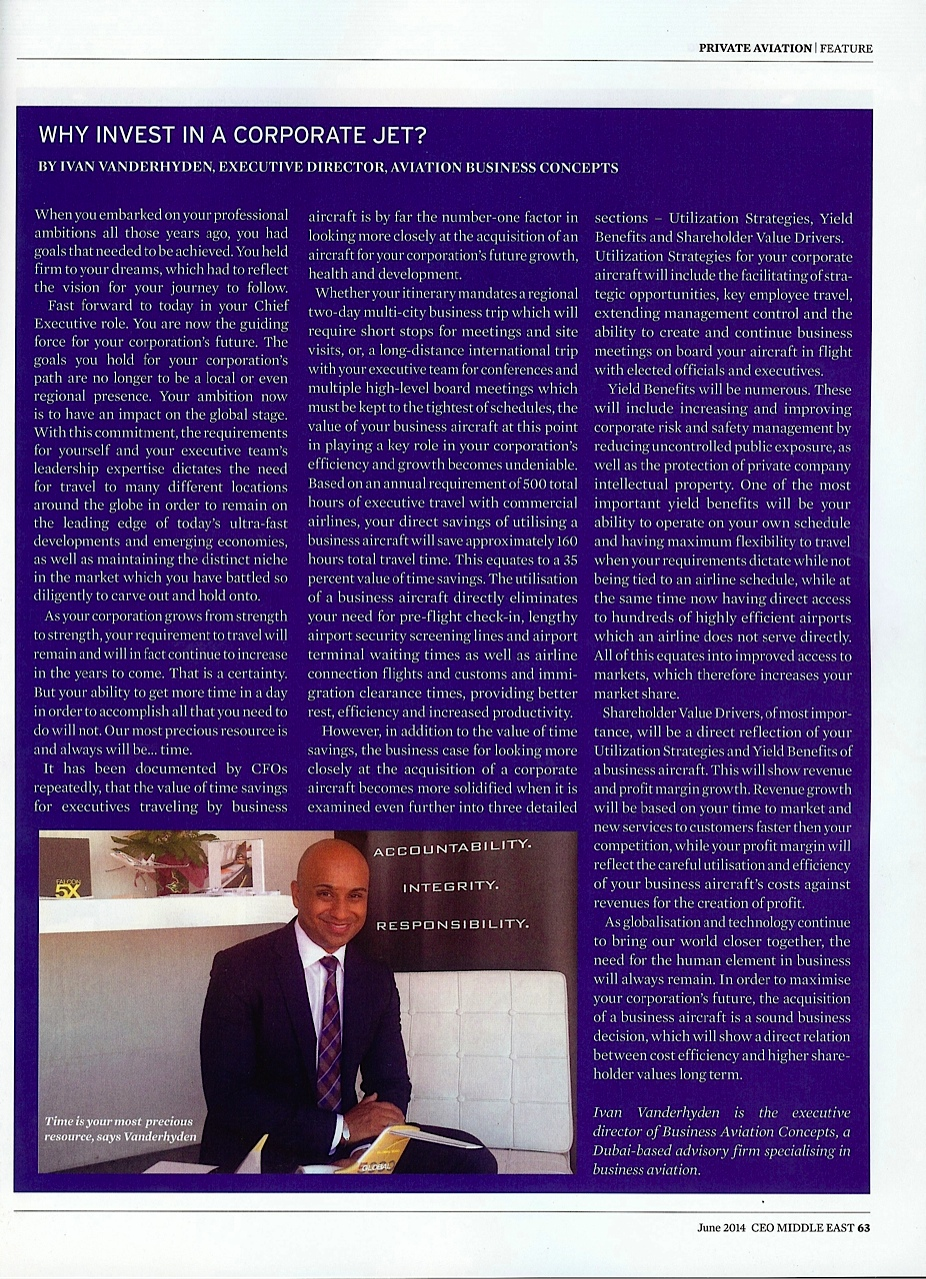 CEO Middle East Magazine, June 2014