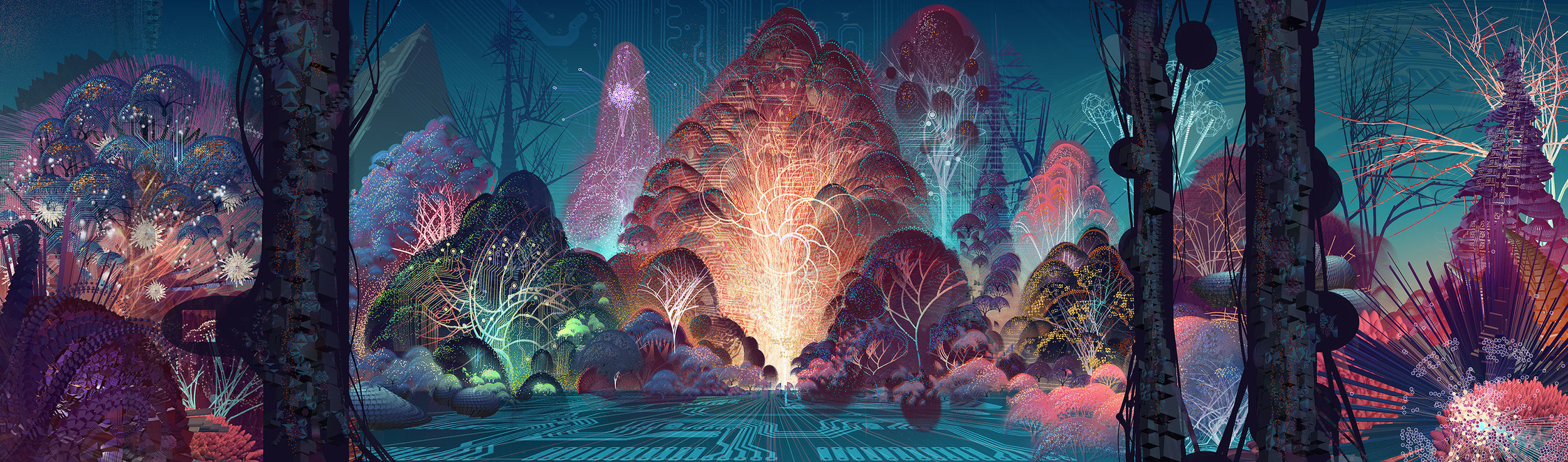 Fractal Forest, by Android Jones
