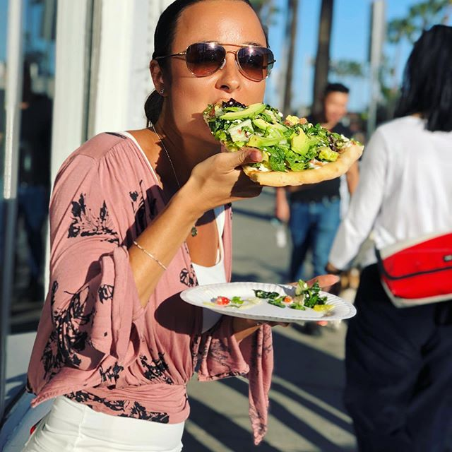 """✨How To Live A Really Rich Life No Matter What Your Bank Account Says✨  This pic is funny 😄 I was with my best friend on a sweet Saturday afternoon in Venice 🤩 that salad pizza on a paper plate is sooo good, better than Michelin star restaurants I've been to! Such a cool place filled with funk and beauty 👌🏼 Now that we have happy paying clients and @genderbridge is growing, my bank account reflects the richness of my heart and energetic output. I'm grateful and excited to build my foundation.  I mentioned """"broke"""" in previous posts talking about the past years but really, I always found ways to live my best life, no matter the number. I realized what I truly value.  I'm blessed to have supportive friends and they know I'm always there for them too.  Doing consulting, coaching, having apps in the App Store (passive income), and miracles like selling domain names right when I needed it did help.  Even though I had made more money than I could spend in my mid-20's, it is after that I realized how to live a really rich life.  May these sources of abundance bless you too: ✨nature is the real 5-star resort, it holds infinite treasures, views, and healing power. Want an ocean view?! Go to the ocean 😜 ✨morning and night rituals to love and energize your body make you feel what you otherwise seek for with objects ✨laughter, hugs, and orgasms are free, indulge in them daily ✨the best high is sober, flowing with life, feeling it all ✨you can dance anytime, anywhere ✨buying items we really, really love to prevent clutter and keep our field clean ✨focusing on expansive experiences, not just expensive ✨building meaningful relationships ✨waking up when your body is ready ✨living freely doing what you love (all that is worth millions)  And that's why I always feel like a galactic billionaire, it's in my heart and I design my own dream.  So yeah, it was totally worth quitting these awesome jobs and listening to my soul, embarking on this spiritual PhD, and trusting #angels would meet"""