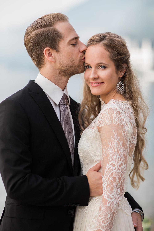 Maleana Hochzeitsfotograf: Paaraufnahme von Nahe