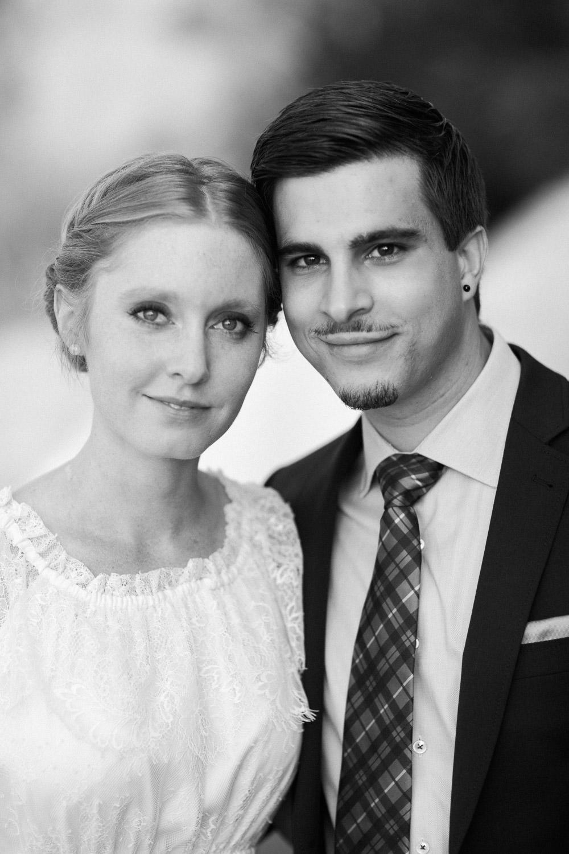 Maleana Hochzeitsfotos: Schwarzweiss Portaits