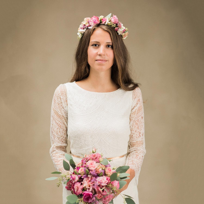 Schweizer Hochzeitskleid mit Spitze