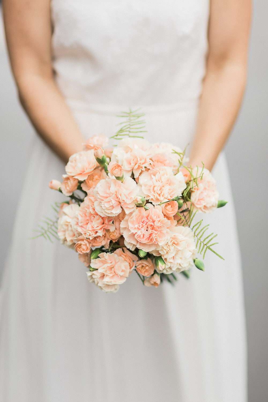 Detailfoto von Blumenstrauss im Bohostyle