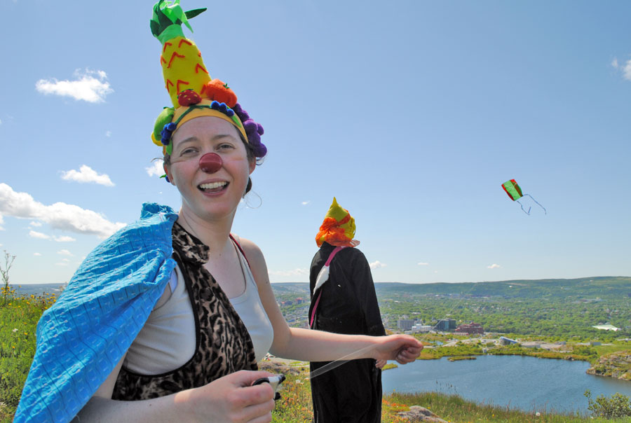 Fruithead and kite. Signal Hill, St. John's. Photo by Elling Lien.