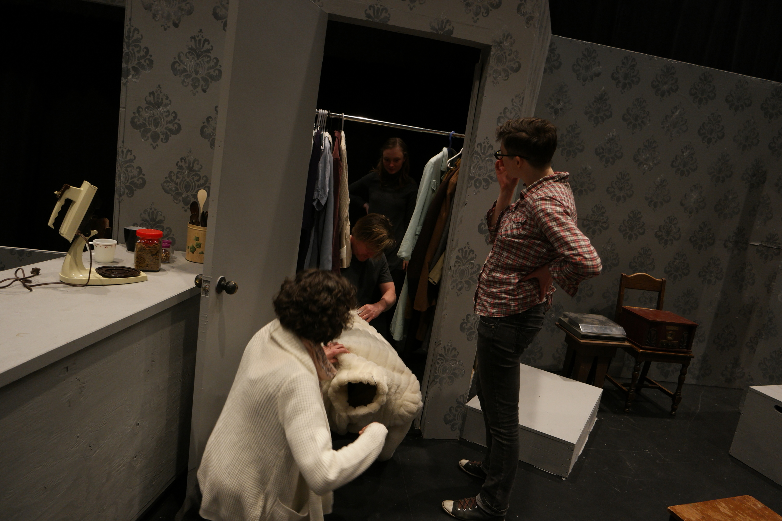 Figuring out the coat puppet with director Andrea Boyd, For the Love of Gracie Gray.