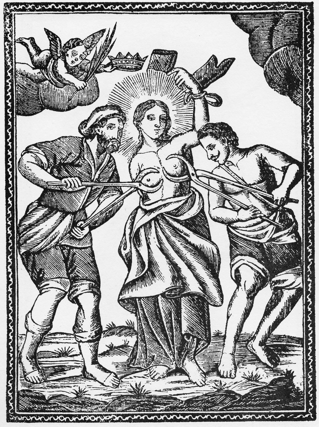 Saint Agatha. Poor Saint Agatha.