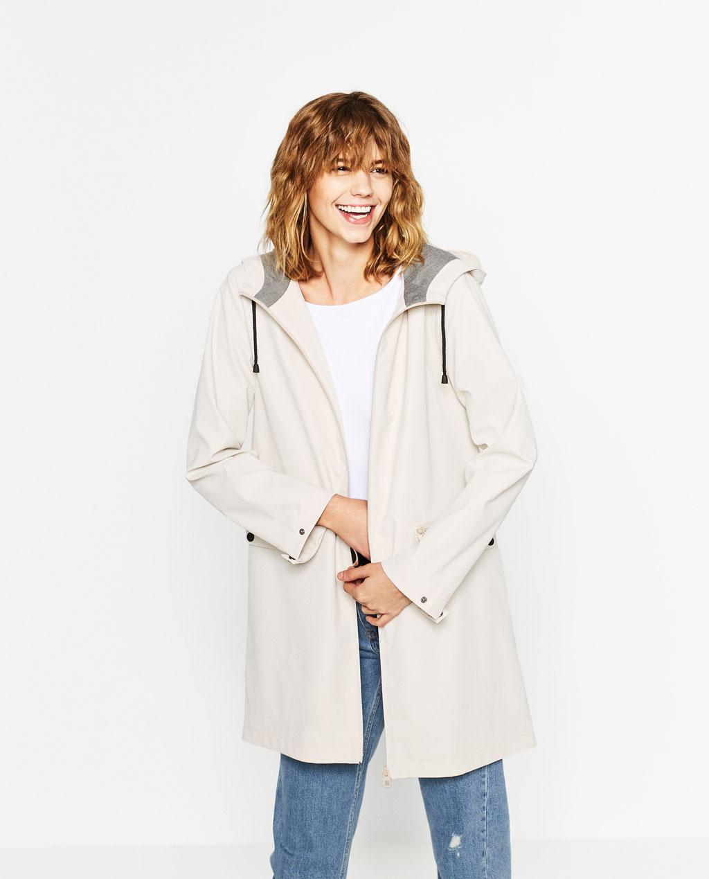 Water Repellent Raincoat, Zara