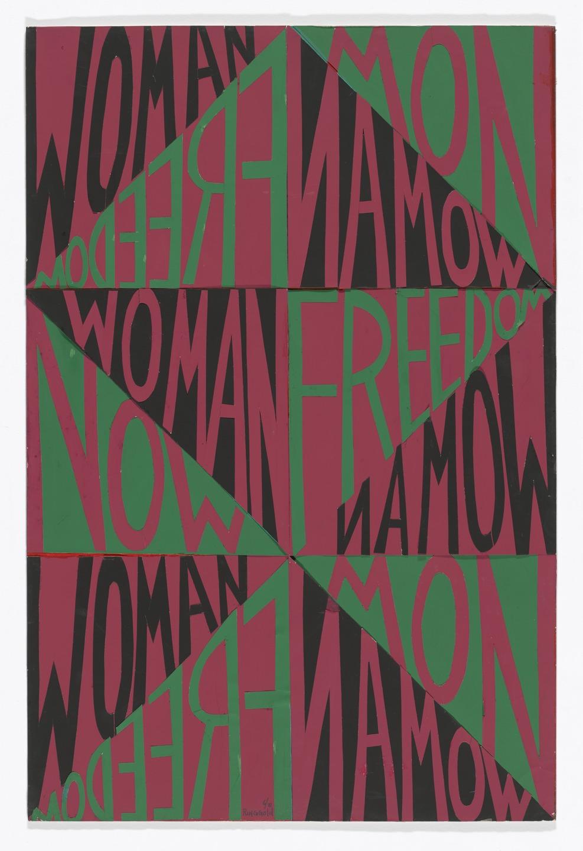 Faith Ringgold ,Freedom Woman Now,1971