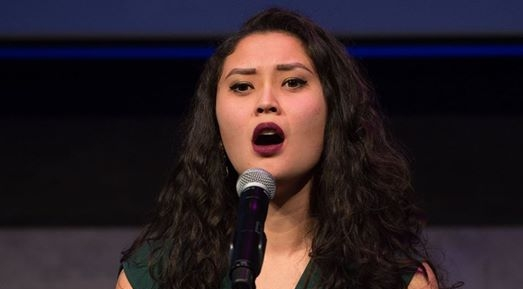 Aury Krebs singing at Ryan Scott Oliver Live at Lincoln Center.