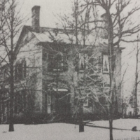 The Wright family home around 1875 (Syracuse University Library)