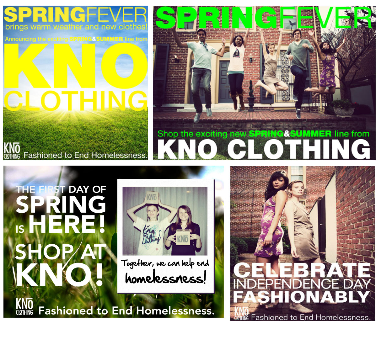 KNO Clothing Spring & Summer Line Advertisements