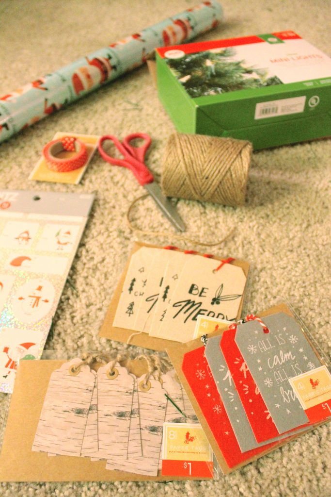 Christmas Package Wrapping Paper Gift Tags 2015
