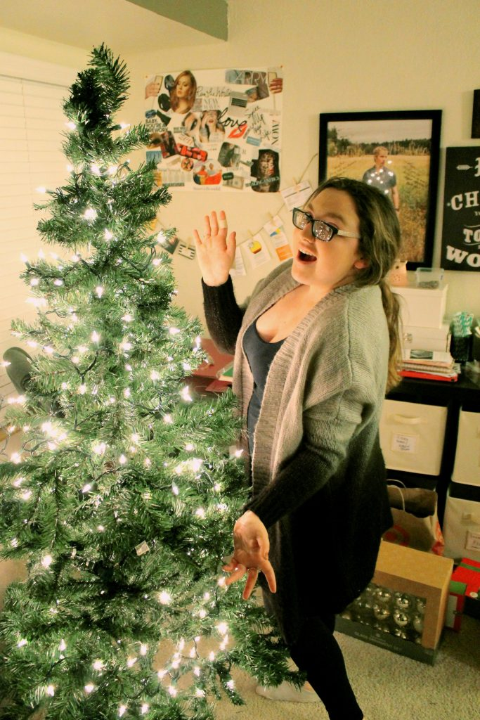 Christmas Tree 2015 with Young Woman