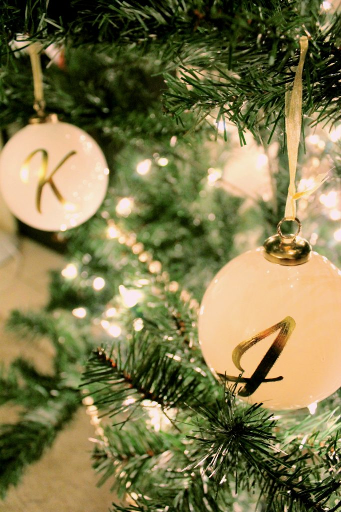 Christmas Tree Letter Ornaments 2015