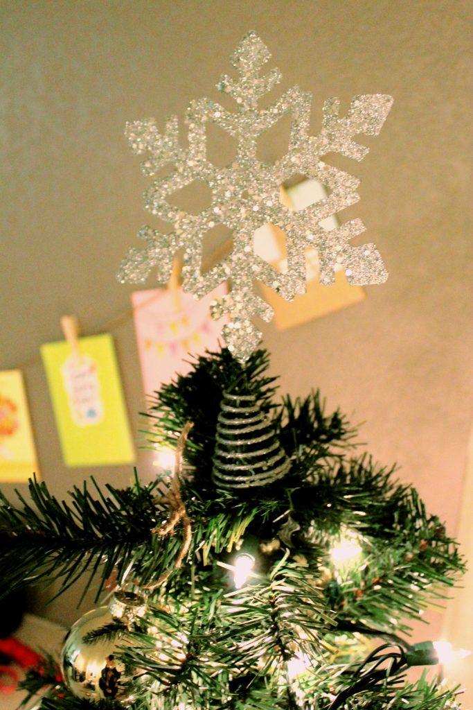 Christmas Tree Star Silver 2015