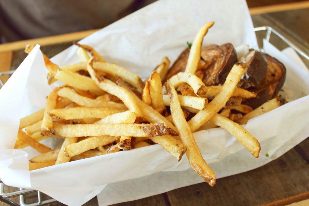 Cooper Point Public House Reuben or Rachel Sandwich with Fries 2