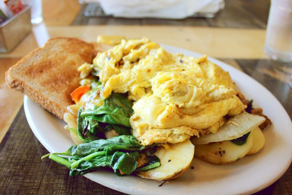 Cooper Point Public House Veggie Skillet Breakfast
