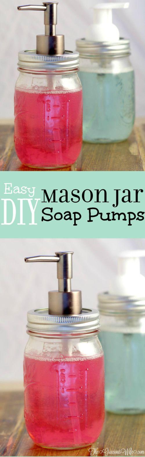 mason jar soap dispensor