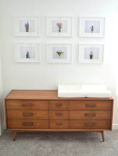 Clean, Simplistic Gallery Wall by All Things Thrifty