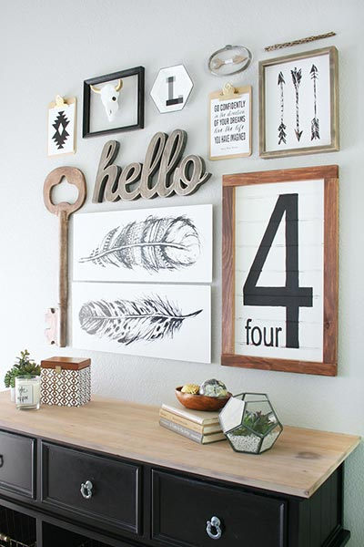 Variety of Shapes, Balanced Gallery Wall by Crafted Sparrow