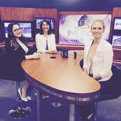 At a local news station with my internship supervisor, Jillian and fellow intern Courtney