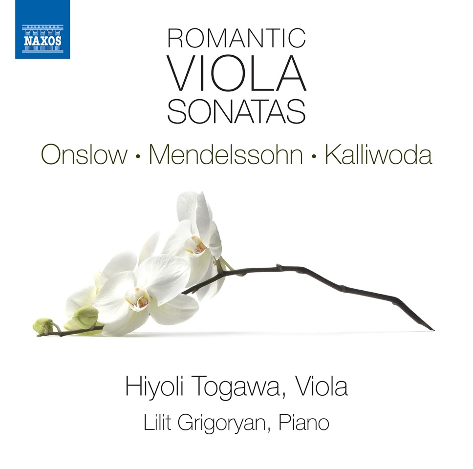 Hiyoli Togawa, viola and Lilit Grigoryan, piano - G. Onslow: Cello Sonata in F Major op. 16 no. 1 (viola version)F. Mendelssohn: Sonata for Viola and Piano in C Minor MWV Q14J. W. Kalliwoda: 6 Nocturnes op. 186Label: NaxosRelease: 12 Januar 2018