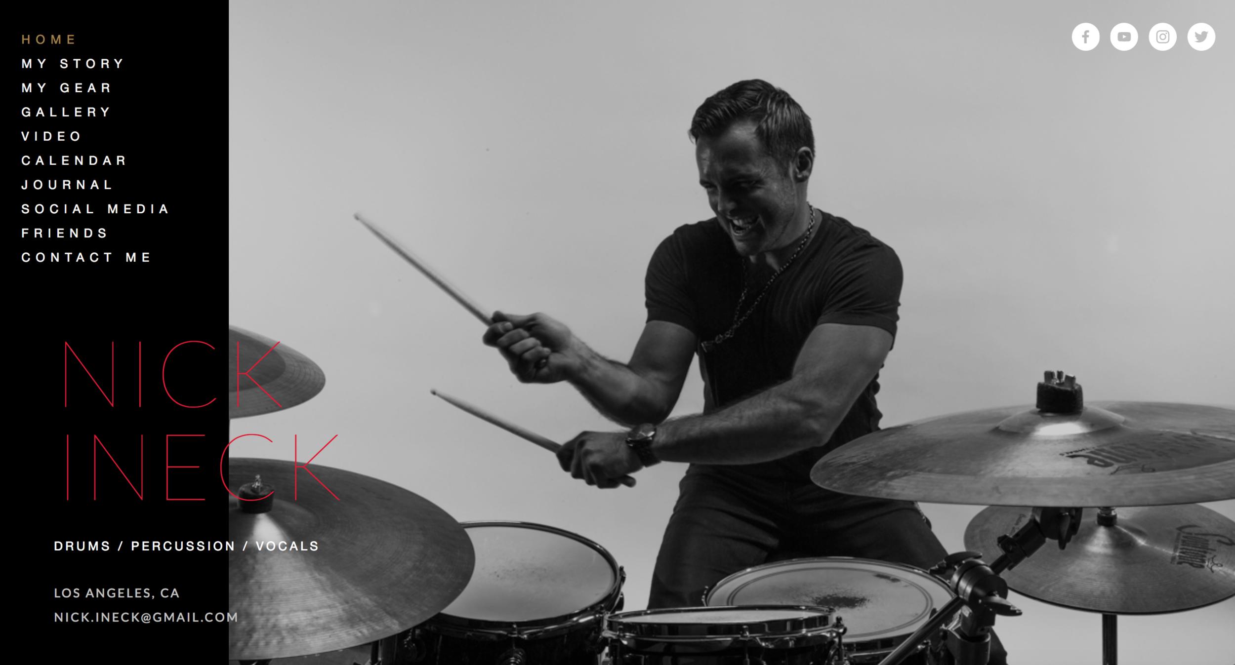 Nick Ineck, Drummer