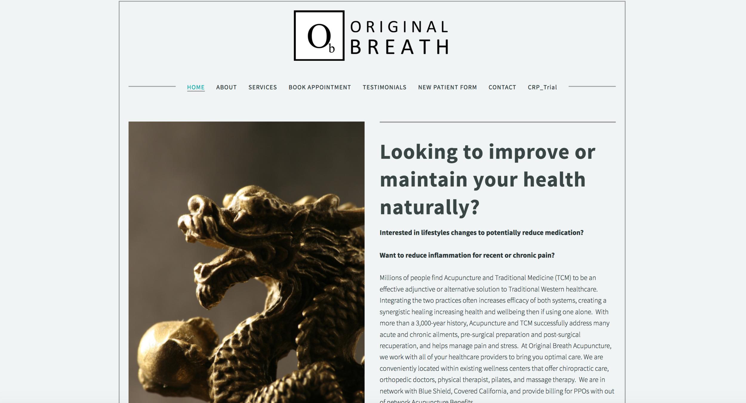 Original Breath, Acupuncture