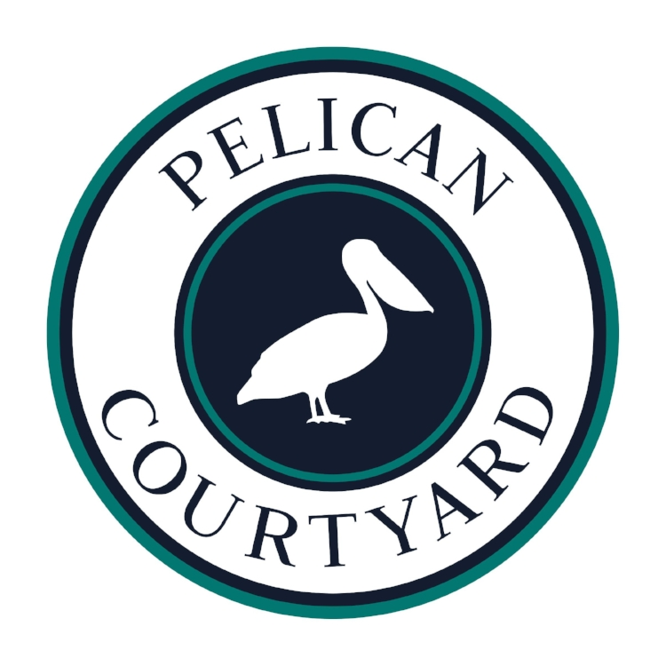 Client: Pelican Courtyard   We operate out of these beautiful Newport Beach studios and gave their logo a fresh, nautical facelift reminiscent of the location and style.  Creative Direction: CB Creative Agency Graphic Design: Begson