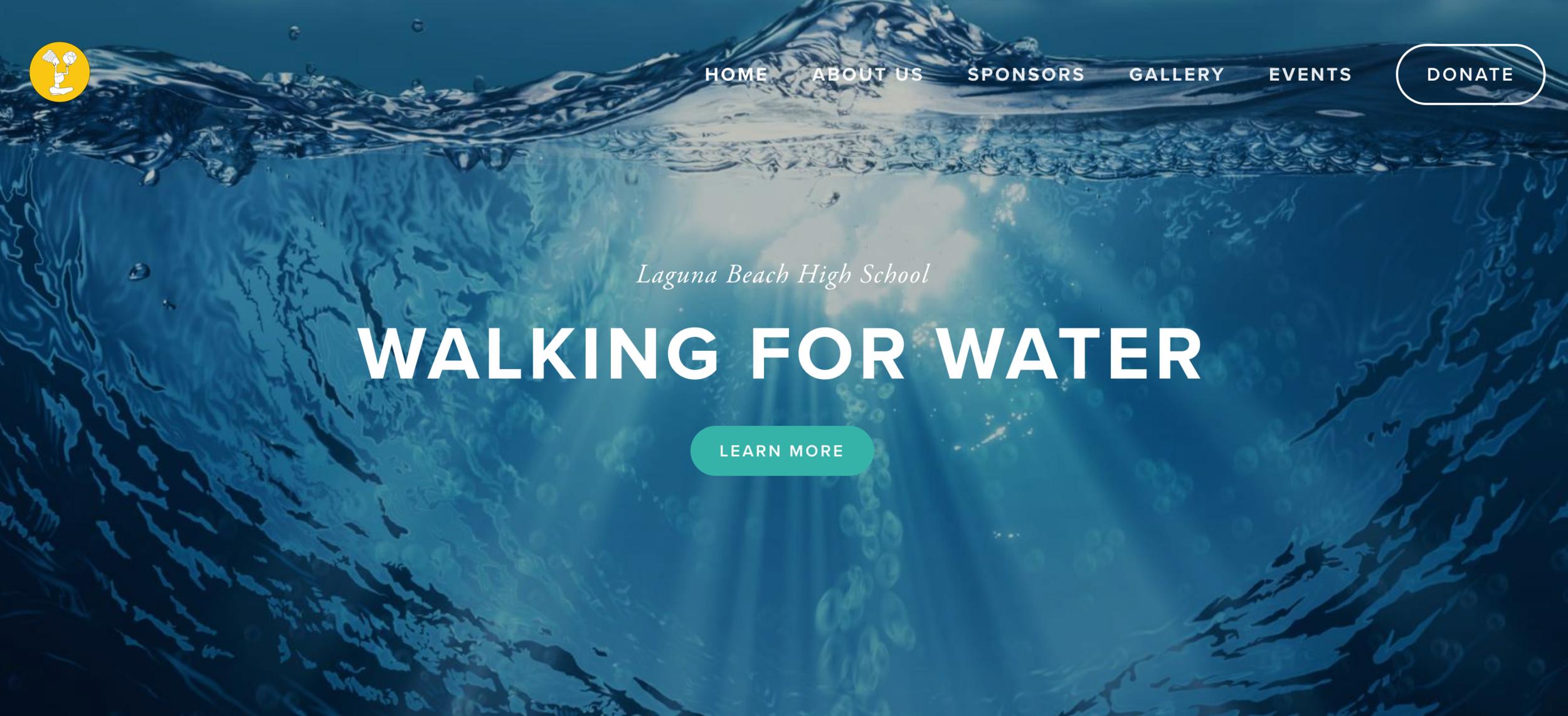 Non-Profit Laguna Beach High School, Walking for Water