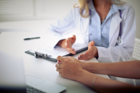 Consultation with a physician
