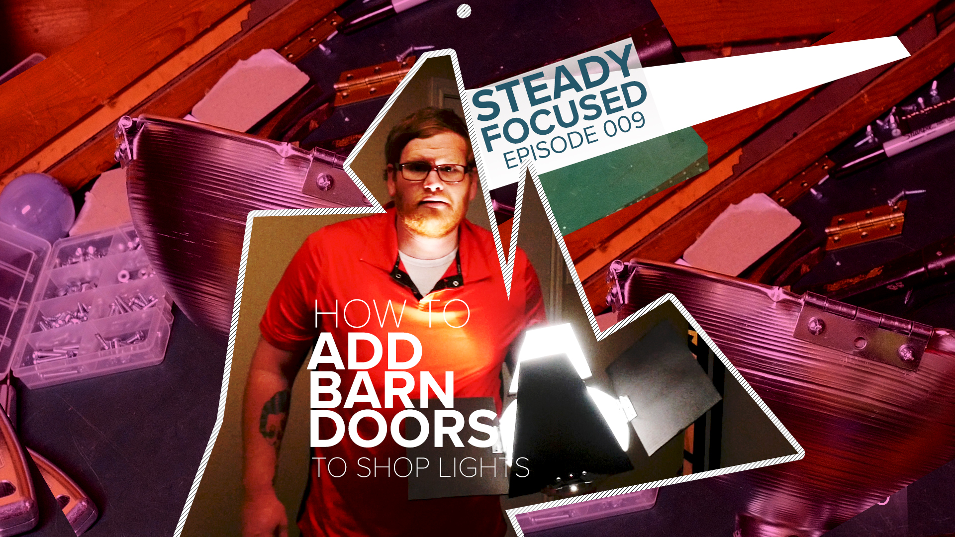 How to Easily Add Barn Doors to YOUR canister shop lights! Steady Focused EP 009