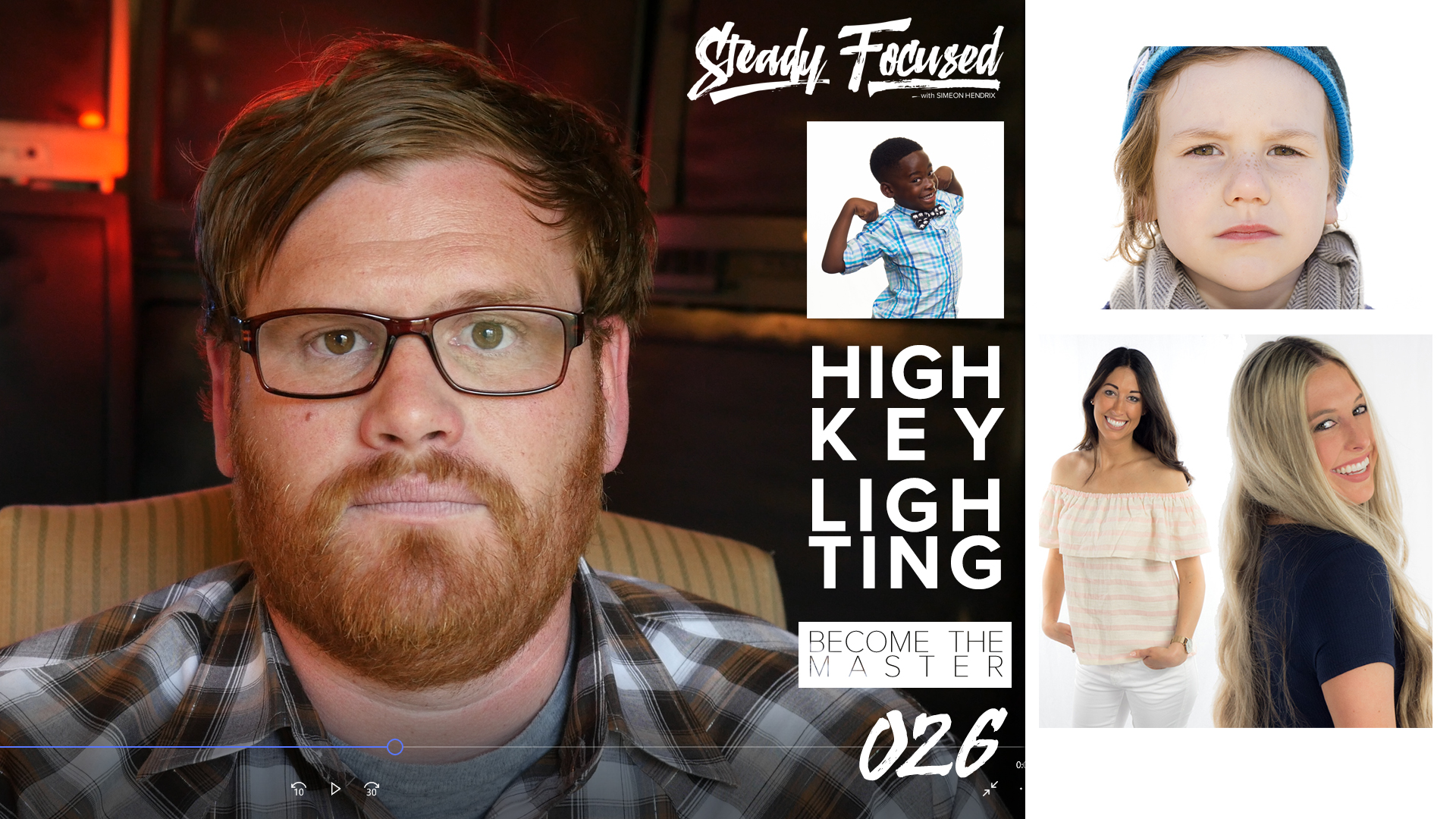 How to easily achieve perfect white background - High Key Lighting. Steady Focused EP 026.