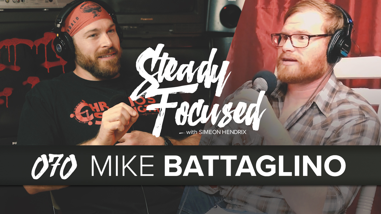 Mike Battaglino, Texas and Oklahoma Strongest Man Champion, stops by the Steady Focused studio to talk about his life, determination and mindset.