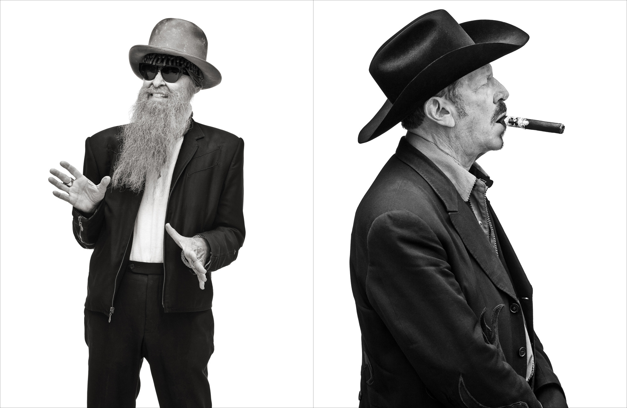Billy F. Gibbons and Kinky Friedman