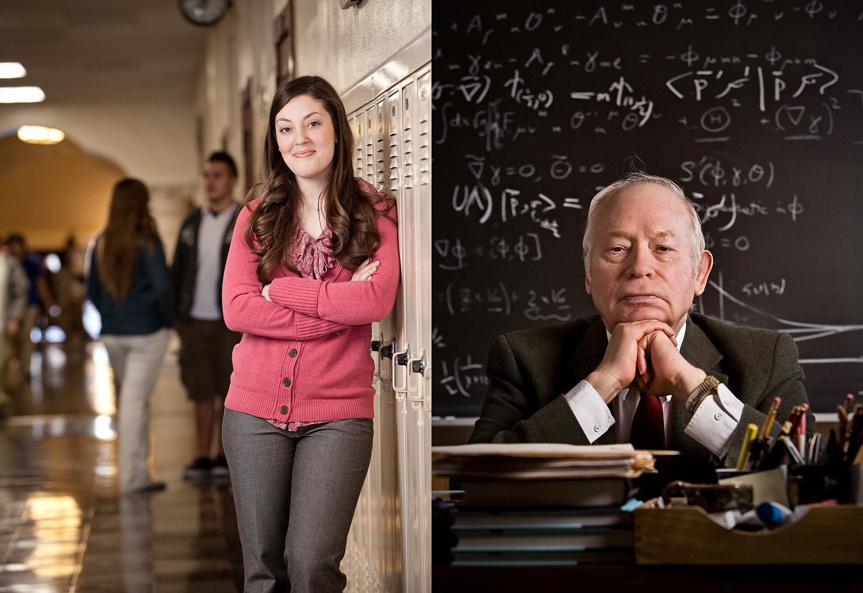 Student advisor and Dr Steven Weinburg, Nobel Prize winning physicist