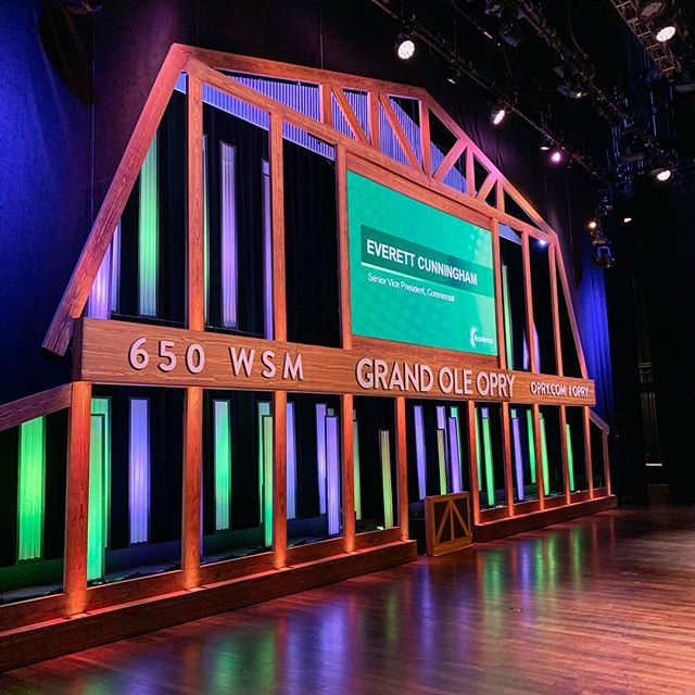 I'm on stage at the Grand Ole Opry!