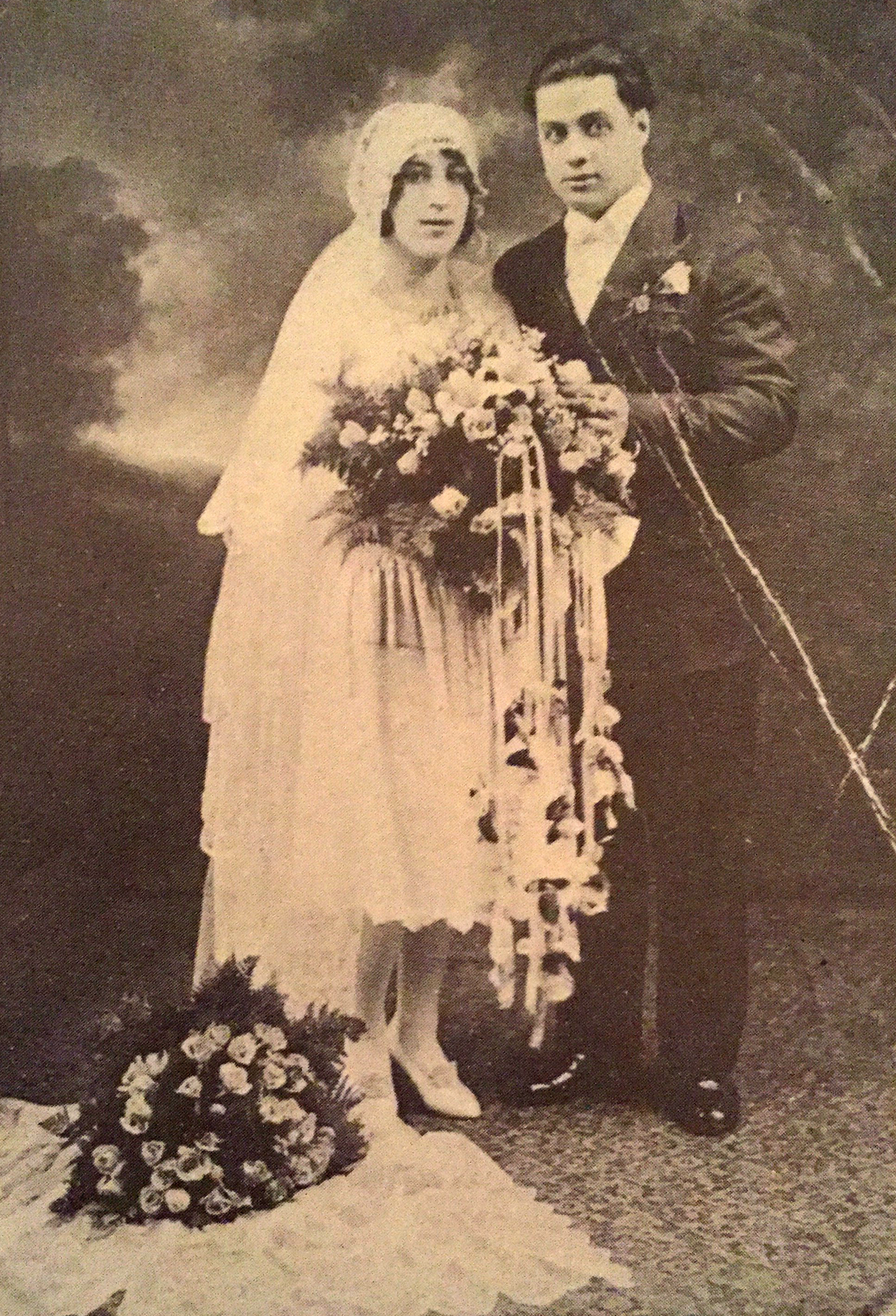 Mr. and Mrs. Joseph Carano, the first couple married in Sacred Heart Church, April 6, 1929