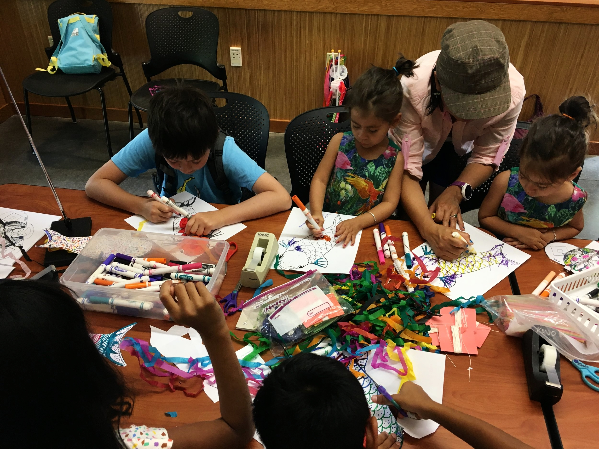 Kite-making workshop from the 2017 season. We're pleased to share this experience with our visitors again for the August Family Saturday this year.