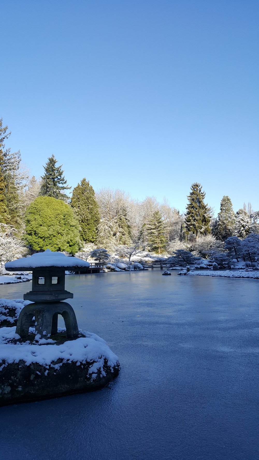 Winter weather can be harsh on the gardeners who still work outdoors daily during the maintenance closure.