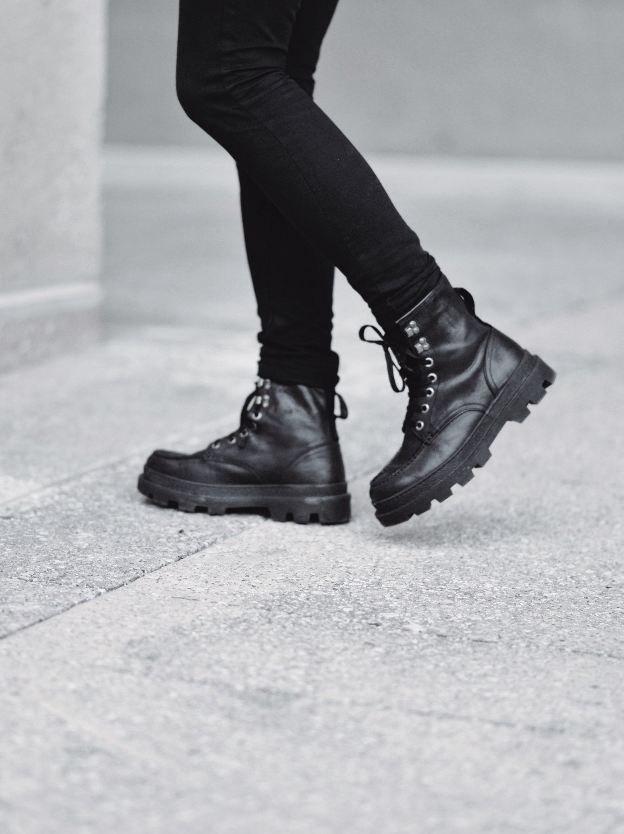 Black Shearling Leather Jacket