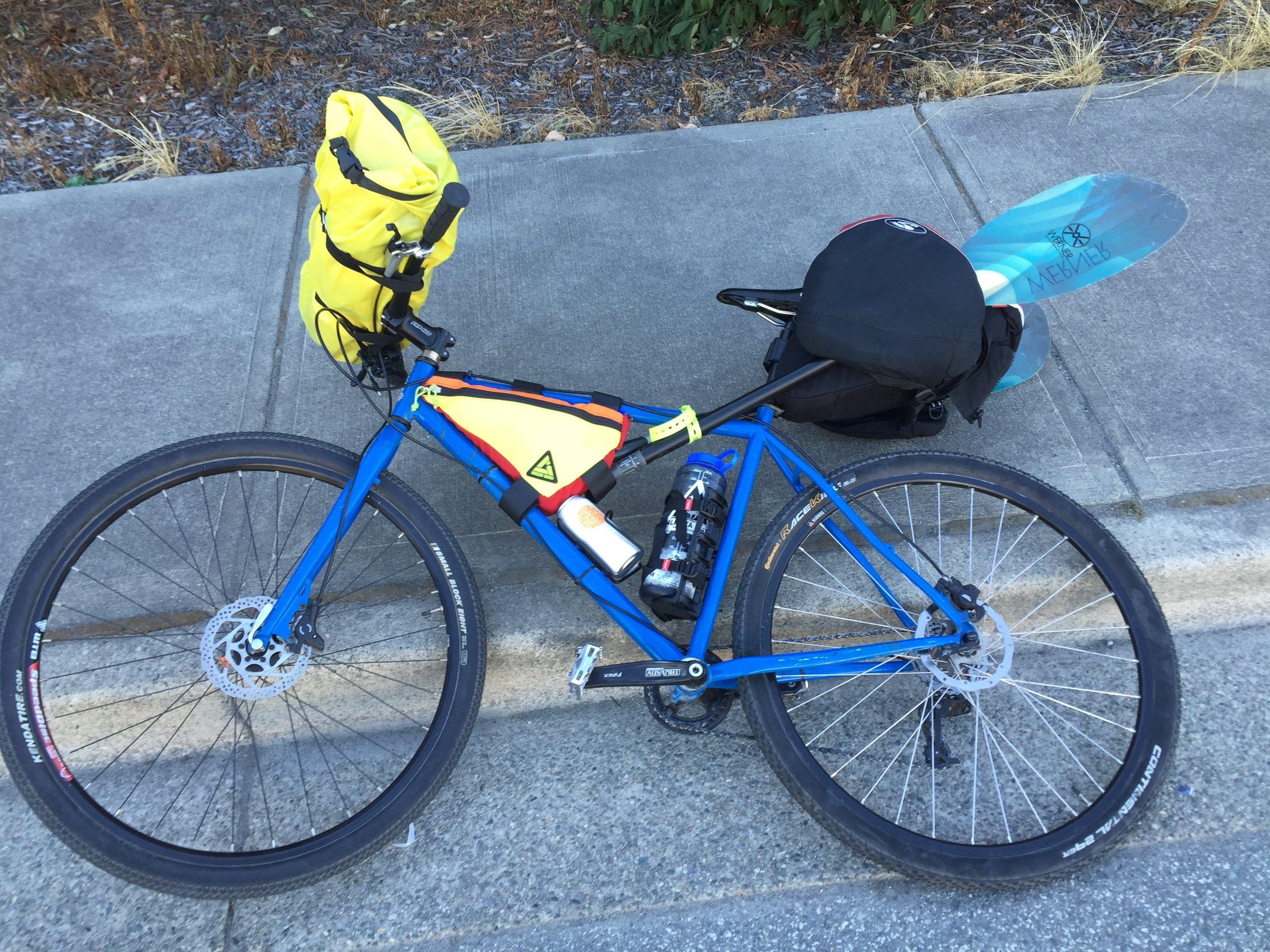 All-terrain bike set-up.