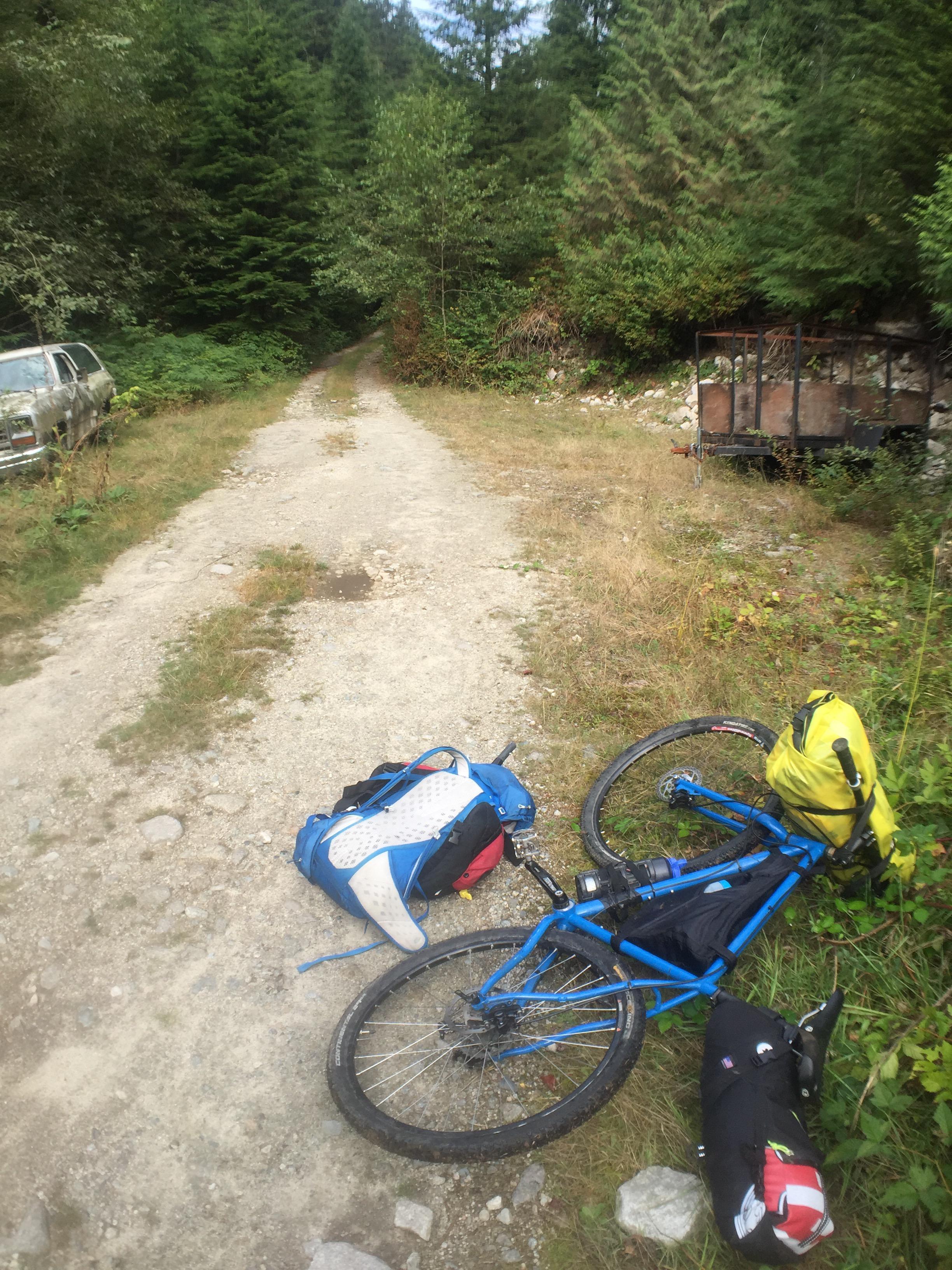 Back on the bike in Buntzen Bay.