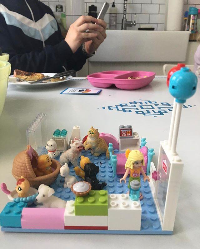Franny's recreation of ps9 😍Subtle hint to start serving pie! #legos #legoland #petshop