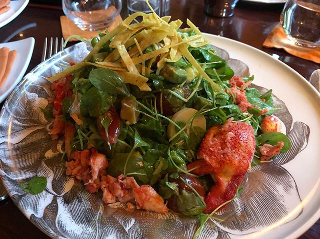 Lobster Baby Arugula Salad @thejeffersondc #lobster #dog #days #summer