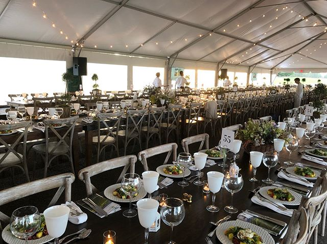 "Dinner is about to be served @piedmontenviron ""On The Runway"" benefit #piedmontenvironmentalcouncil #runway #benefit #mellon #houndstoothinteriors"