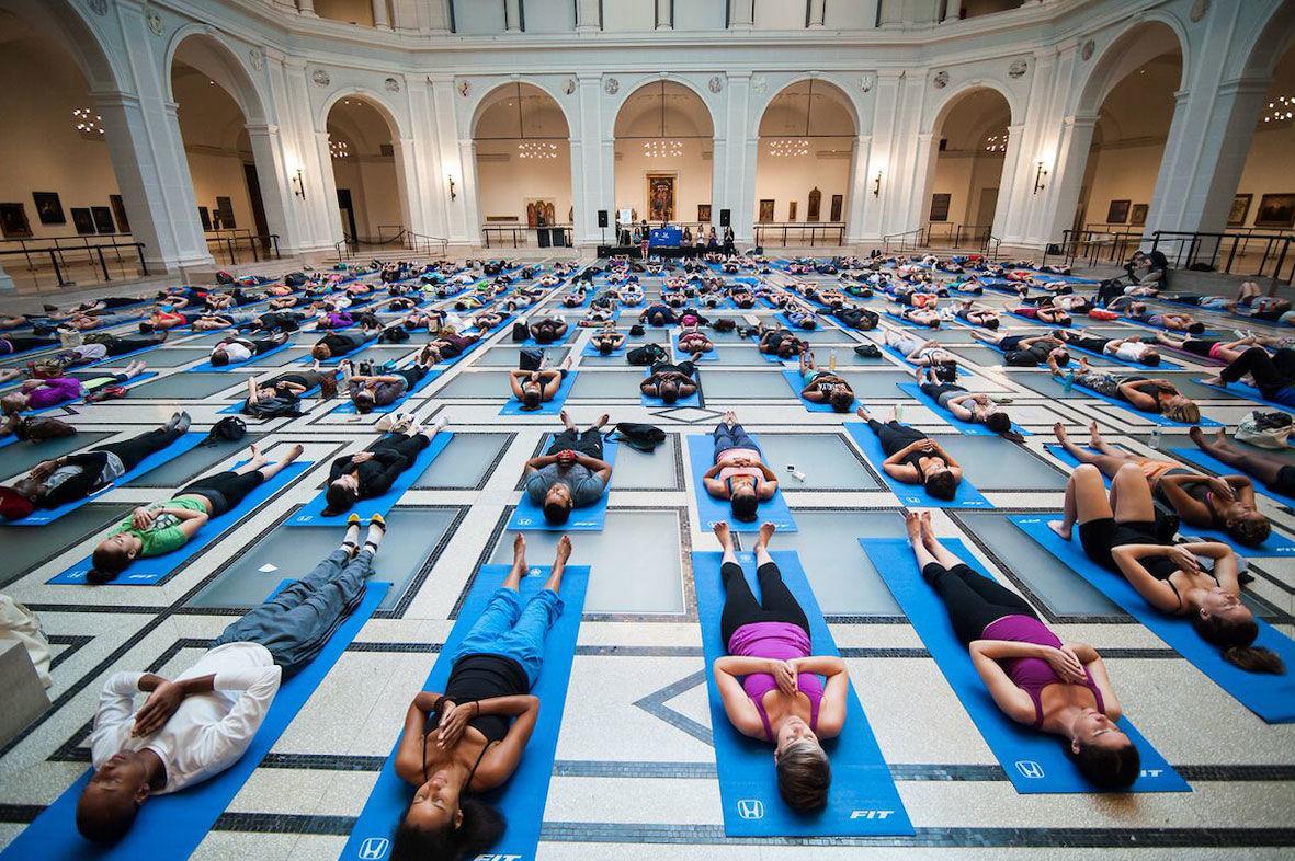 Yoga meets art at the Brooklyn Museum