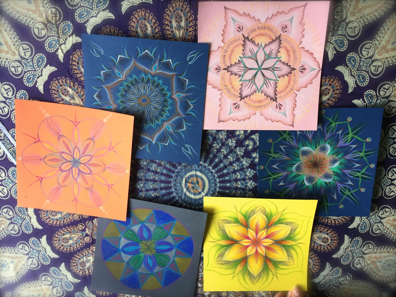 Images from my last Mandala Drawing Class
